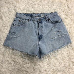 Vintage Levi Cut Off Shorts 12 Orange Tab